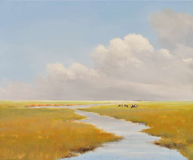 Jan Groenhart - koeien in mals gras
